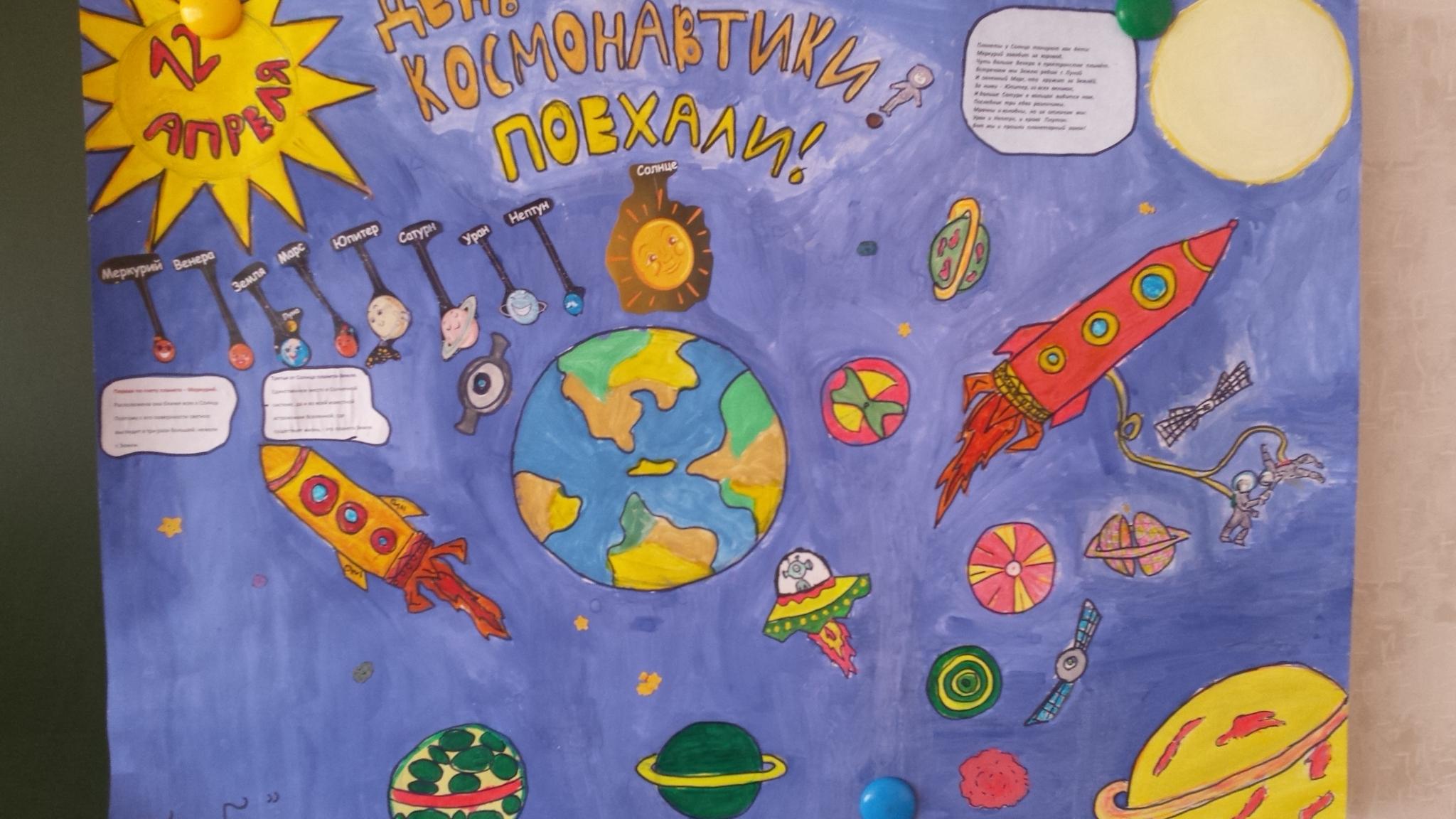 плакат на тему космос этих